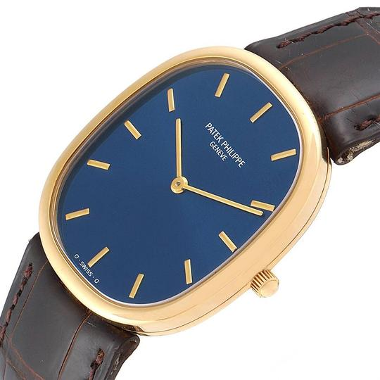 Patek Philippe Patek Philippe Golden Ellipse Yellow Gold Blue Dial Watch 3738 Papers Image 4