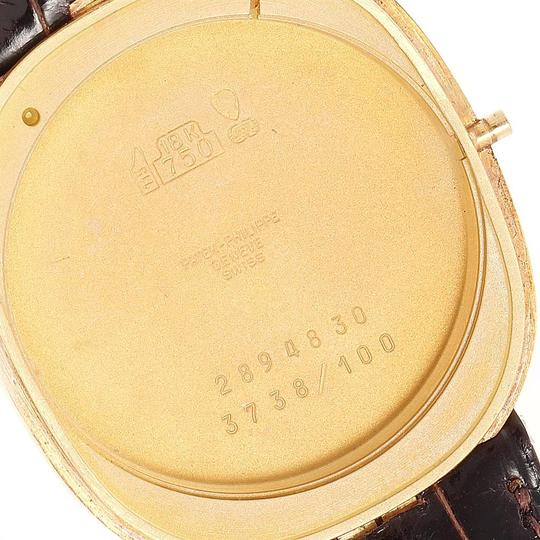 Patek Philippe Patek Philippe Golden Ellipse Yellow Gold Blue Dial Watch 3738 Papers Image 6