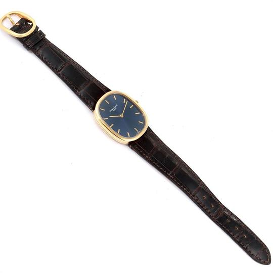 Patek Philippe Patek Philippe Golden Ellipse Yellow Gold Blue Dial Watch 3738 Papers Image 9