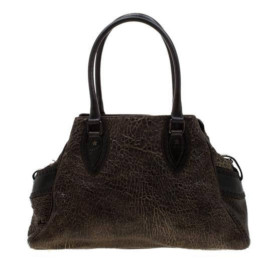 Fendi Leather Satchel in Brown Image 1