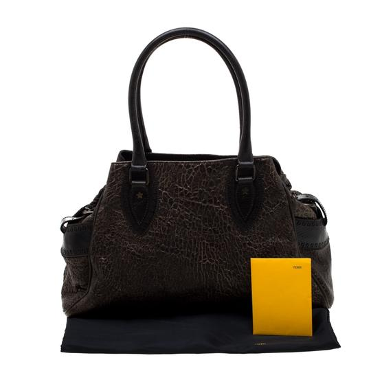 Fendi Leather Satchel in Brown Image 11