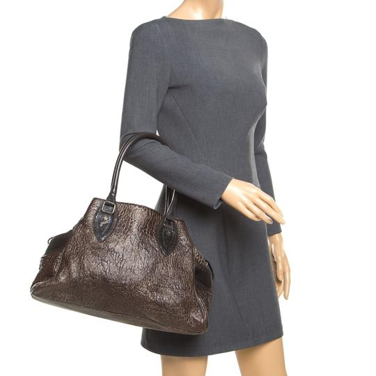 Fendi Leather Satchel in Brown Image 2