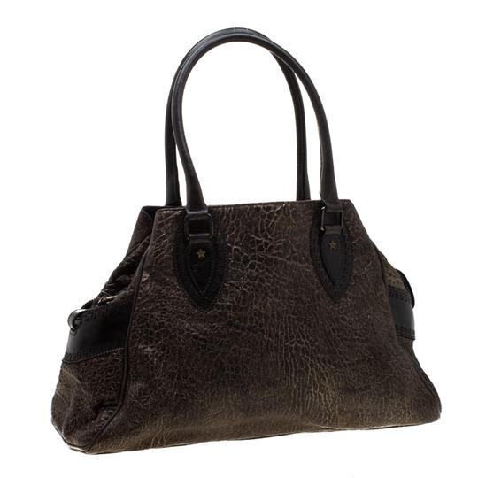 Fendi Leather Satchel in Brown Image 3