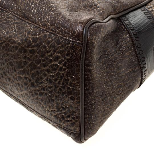 Fendi Leather Satchel in Brown Image 7