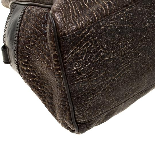 Fendi Leather Satchel in Brown Image 9