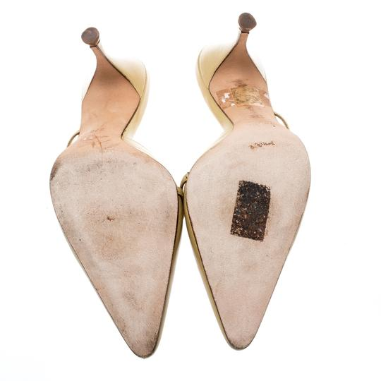 Gucci Leather Pointed Toe Beige Sandals Image 3