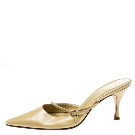 Gucci Leather Pointed Toe Beige Sandals Image 4