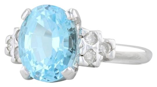 Preload https://img-static.tradesy.com/item/26198343/white-gold-364ctw-blue-topaz-and-diamond-10k-size-6-oval-solitaire-ring-0-1-540-540.jpg