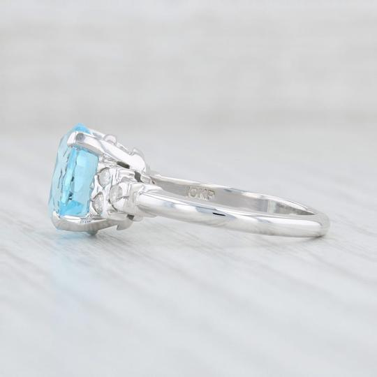 Other 3.64ctw Blue Topaz & Diamond Ring - 10k Size 6 Oval Solitaire Image 2
