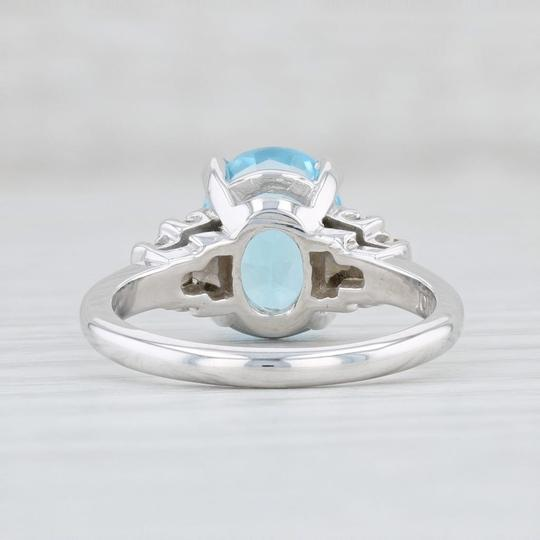 Other 3.64ctw Blue Topaz & Diamond Ring - 10k Size 6 Oval Solitaire Image 3