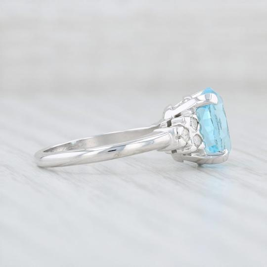 Other 3.64ctw Blue Topaz & Diamond Ring - 10k Size 6 Oval Solitaire Image 4