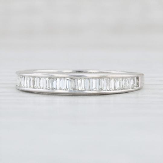 White Gold 0.90ctw Diamond - 14k Size 10 Channel Set Baguettes Women's Wedding Band Image 0