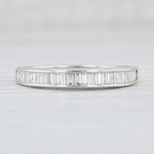 White Gold 0.90ctw Diamond - 14k Size 10 Channel Set Baguettes Women's Wedding Band Image 1