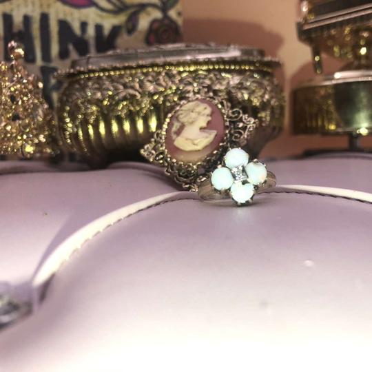 Macy's 10kt opal and diamond ring Image 5