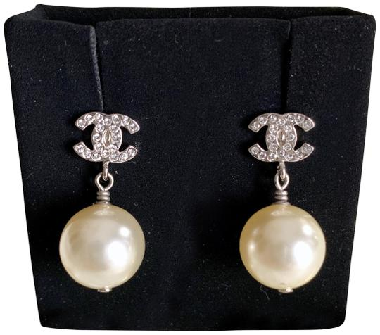 Chanel Pierced Pearl Earrings Image 0