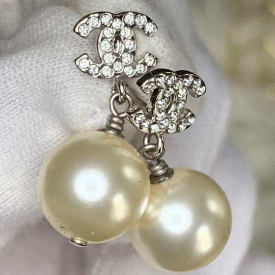 Chanel Pierced Pearl Earrings Image 1