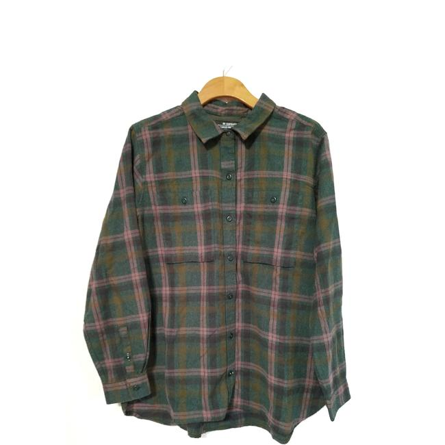 REI Button Down Shirt Green Image 4