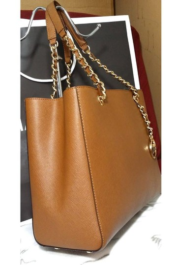 Michael Kors Susannah Shoulder Saffiano Leather Tote in brown Image 8