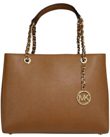Michael Kors Susannah Shoulder Saffiano Leather Tote in brown Image 1