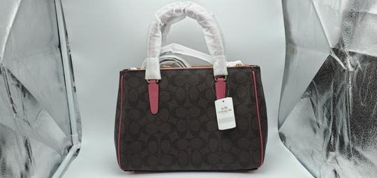 Coach Satchel in Brown Strawberry Image 1