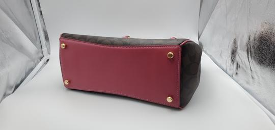 Coach Satchel in Brown Strawberry Image 4