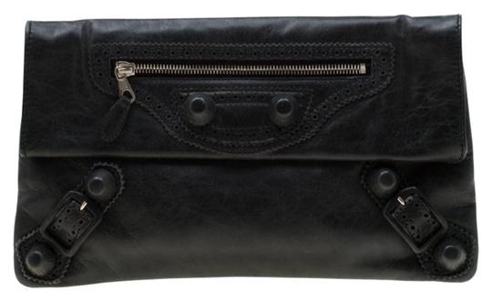Balenciaga Leather Grey Clutch Image 0