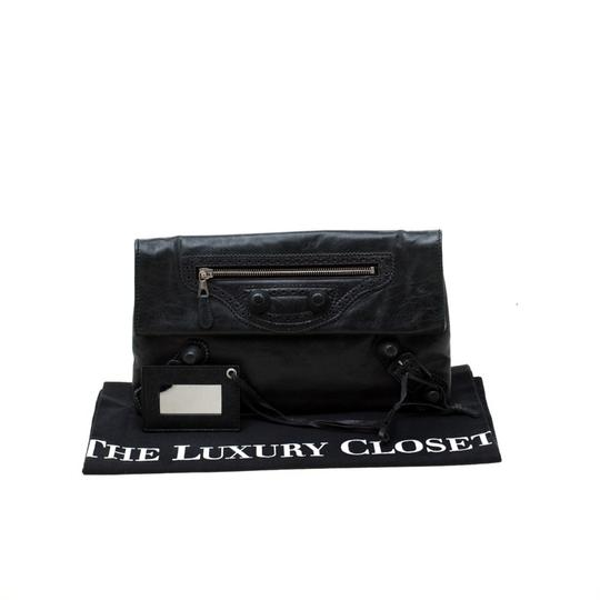 Balenciaga Leather Grey Clutch Image 11