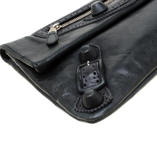 Balenciaga Leather Grey Clutch Image 5