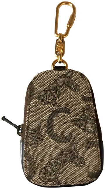 Item - Brown and Beige Ultra Rare C Logo Jeans Keychain / Bag Charm / Coin Pouch
