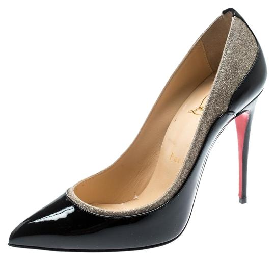 Preload https://img-static.tradesy.com/item/26198540/christian-louboutin-black-patent-leather-and-glitter-tucsick-pointed-pumps-size-eu-375-approx-us-75-0-1-540-540.jpg