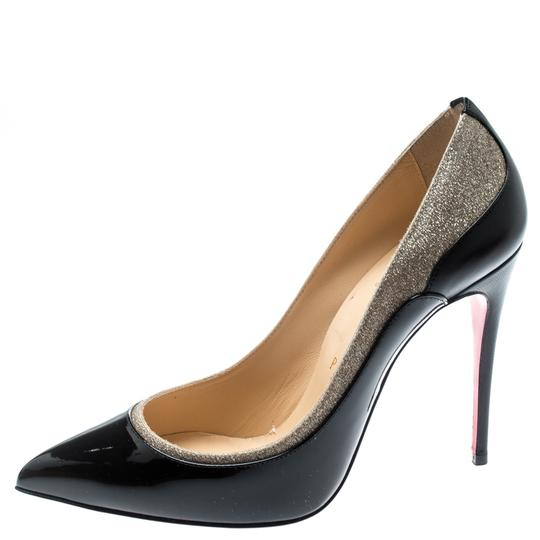 Christian Louboutin Patent Leather Pointed Toe Black Pumps Image 1
