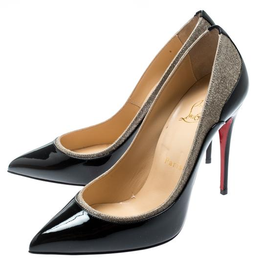 Christian Louboutin Patent Leather Pointed Toe Black Pumps Image 5