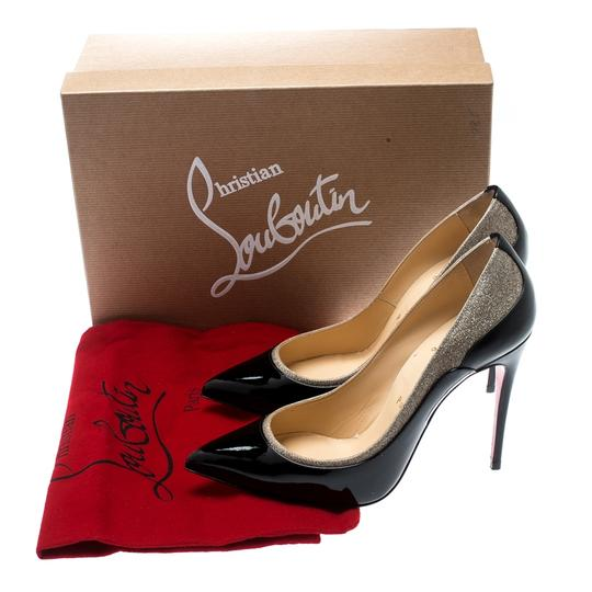 Christian Louboutin Patent Leather Pointed Toe Black Pumps Image 7
