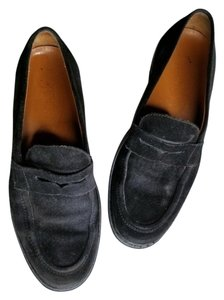Tod's Suede Classic Loafer Slip-on Comfort Black Flats