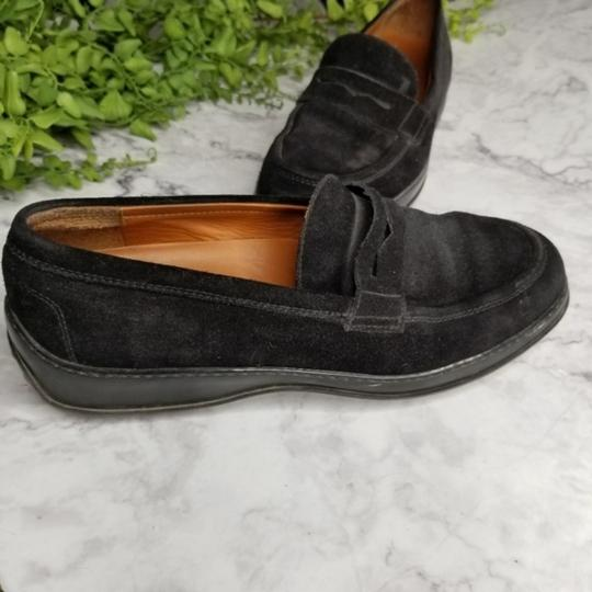 Tod's Suede Classic Loafer Slip-on Comfort Black Flats Image 1
