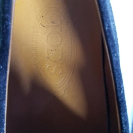 Tod's Suede Classic Loafer Slip-on Comfort Black Flats Image 2