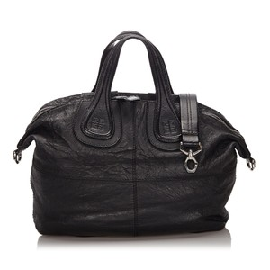 Givenchy 9igvho001 Vintage Leather Satchel in Black
