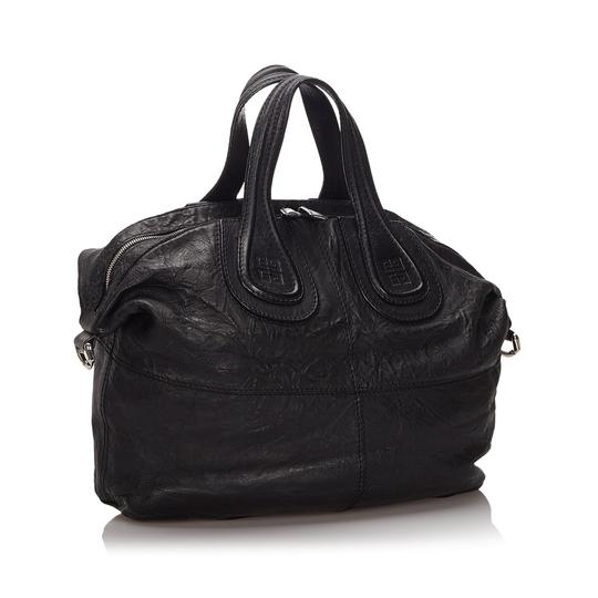 Givenchy 9igvho001 Vintage Leather Satchel in Black Image 11