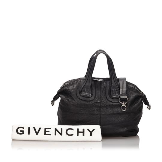 Givenchy 9igvho001 Vintage Leather Satchel in Black Image 5