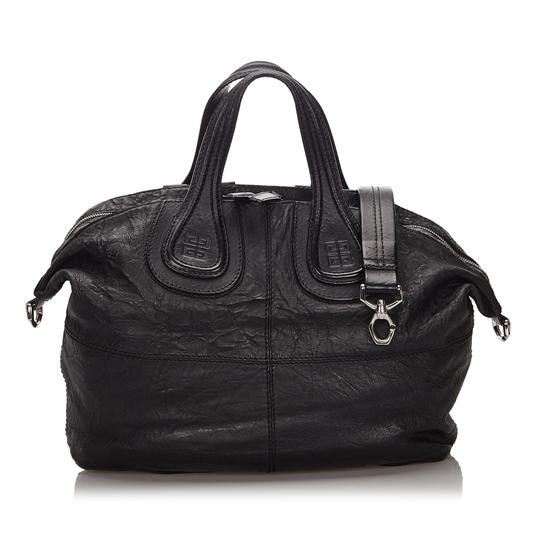 Givenchy 9igvho001 Vintage Leather Satchel in Black Image 8