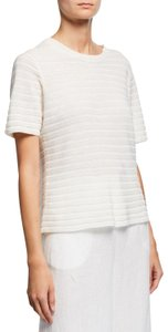 Eileen Fisher Textured Organic Linen Cotton Knit Sweater