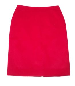 Talbots Pencil Wool Soft Skirt Red