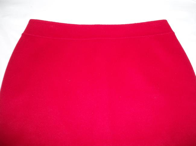 Talbots Pencil Wool Soft Skirt Red Image 1