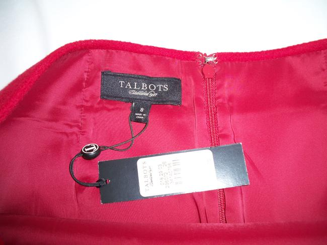 Talbots Pencil Wool Soft Skirt Red Image 2