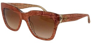 Tory Burch TY7126-173713-53 Square women's Brown Frame Grey Lens Sunglasses