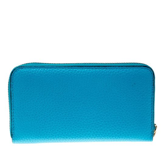 Burberry Burberry Bright Blue Leather Zip Around Wallet Image 1