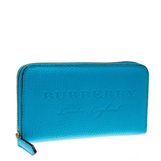 Burberry Burberry Bright Blue Leather Zip Around Wallet Image 2