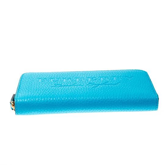 Burberry Burberry Bright Blue Leather Zip Around Wallet Image 3