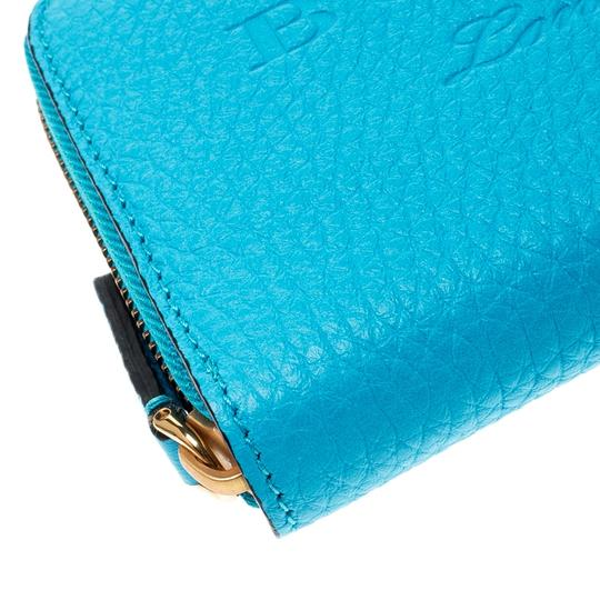 Burberry Burberry Bright Blue Leather Zip Around Wallet Image 5