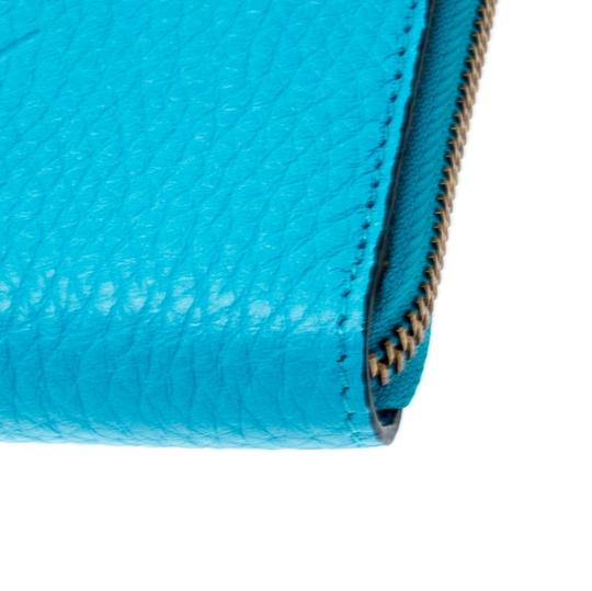 Burberry Burberry Bright Blue Leather Zip Around Wallet Image 7
